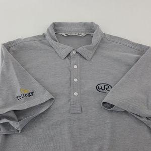 Travis Mathew Mens Trilogy XL Gray Polo Shirt